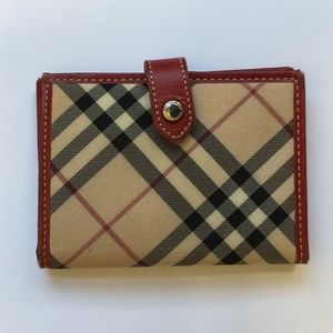 Burberry Nova print red/beige wallet